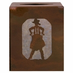 Cowgirl Metal Boutique Tissue Box Cover