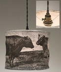 Cows Canvas Pendant Lamp Light