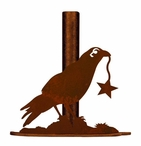 Crow Bird Metal Paper Towel Holder