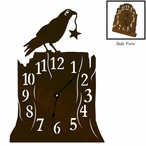 Crow Bird Metal Table Clock