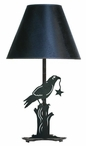 Crow Bird Metal Table Lamp with Shade