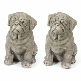 Cute Puppy Sculpture, Set of 2