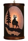 Deer and Tree Metal Round Pendant Light