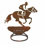 Derby Horse Racer Metal Bath Towel Ring