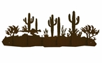 Desert and Cactus Scene Six Hook Metal Wall Coat Rack