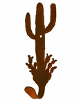 Desert Cactus Small Single Metal Wall Hook