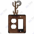Desert Moon Double Metal Outlet Cover with Single Rocker