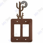 Desert Moon Double Rocker Metal Switch Plate Cover