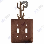 Desert Moon Double Toggle Metal Switch Plate Cover