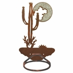 Burnished Desert Moon Metal Bath Towel Ring