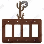 Desert Moon Quad Rocker Metal Switch Plate Cover