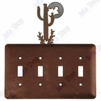 Desert Moon Quad Toggle Metal Switch Plate Cover
