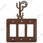 Desert Moon Triple Rocker Metal Switch Plate Cover
