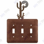 Desert Moon Triple Toggle Metal Switch Plate Cover
