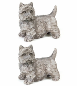 Dog Sculpture, Set of 2