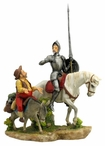 Don Quixote and Sancho Panza Color Sculpture