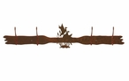 Ducks in the Cattails Four Hook Metal Wall Coat Rack