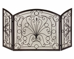 Elegant Scroll Iron Fireplace Screen