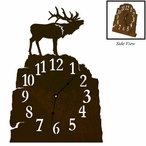 Elk Metal Table Clock