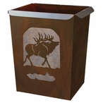 Elk Metal Wastebasket Trash Can