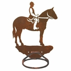 English Horse Rider Metal Bath Towel Ring