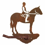 English Horse Rider Metal Toilet Paper Holder