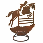 Equestrian Show Jumping Metal Bath Towel Ring