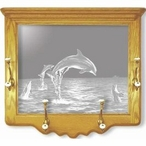 Etched Mirror Wall Coat Racks