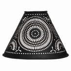 Extra Small Black Pinwheel Punched Tin Lamp Shade