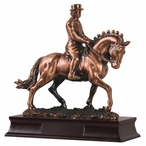 Female Horse Rider Statue - Copper Finish