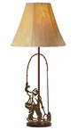 Fly Fisherman Tall Metal Table Lamp