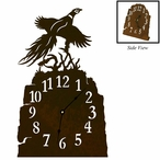 Flying Pheasant Metal Table Clock