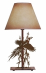 Flying Pheasant Metal Table Lamp with Shade