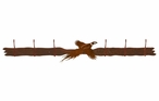 Flying Pheasant Six Hook Metal Wall Coat Rack