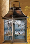 Fruits of Your Labor Wood Ducks Metal and Glass Candle Lantern