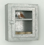 Galvanized Chicken Wire Metal Wall Cabinet