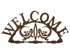 Gecko Lizard Metal Welcome Sign