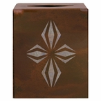 Geo Diamond Metal Boutique Tissue Box Cover
