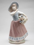 Girl with Best Friends Porcelain Sculpture