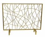 Gold Twig Iron Fireplace Screen