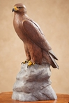 Golden Eagle Bird Hand Painted Sculpture
