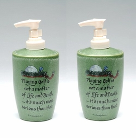 Golfers Wisdom Soap Lotion Pump Dispenser, Set of 2