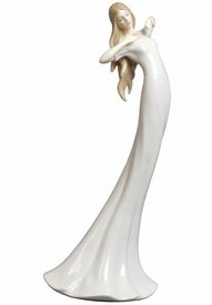 Good Morning Woman Slim Porcelain Figurine
