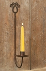 Green and Rust Tulip Wall Taper Candle Holder Sconce, Set of 4