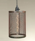 Green Rust Mesh Hanging Pendant Lamp Light