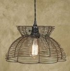Green Rust Wire Pendant Lamp Light