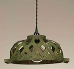 Green Woven Bowl Pendant Lamp Light
