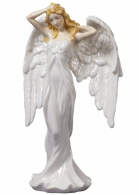 Guardian Angel White Dress Porcelain Sculpture