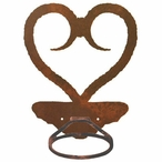 Heart Metal Bath Towel Ring
