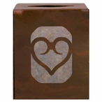 Heart Metal Boutique Tissue Box Cover